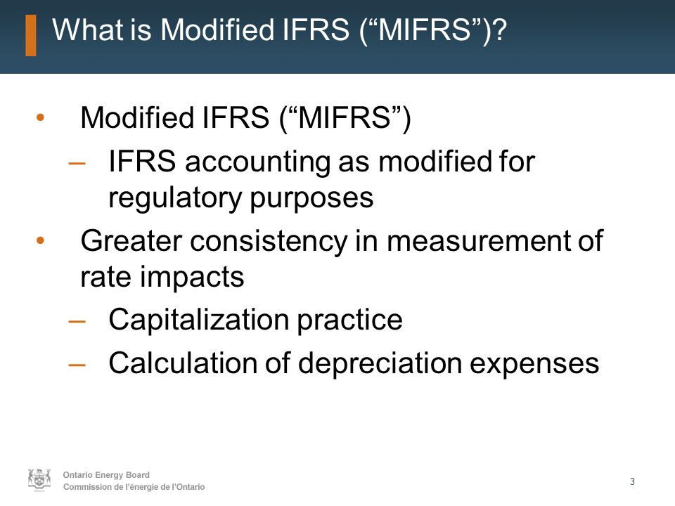 4 Section 2.3.1 - Key References for Interpreting Filing Requirements for Modified IFRS Report of the Board: Transition to IFRS, July 2009 – policy –Key areas impacted Electricity and gas distributors, implications for others Regulatory accounting policies, application filing requirements, Reporting & Record-keeping Requirements Asset Depreciation Study for the Ontario Energy Board – Kinectrics July 8, 2010 Addendum to Report of the Board: Implementing IFRS in an IRM Environment June 13, 2011 April 30, 2012 Direction of the OEB