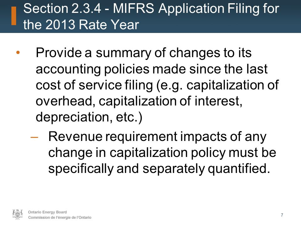 28 Some applicants did not provide the transition year in both CGAAP and MIFRS, but rather went straight from CGAAP in 2011 to MIFRS in 2012 in the continuity schedules.