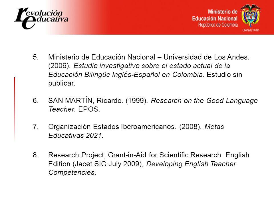 5. Ministerio de Educación Nacional – Universidad de Los Andes.