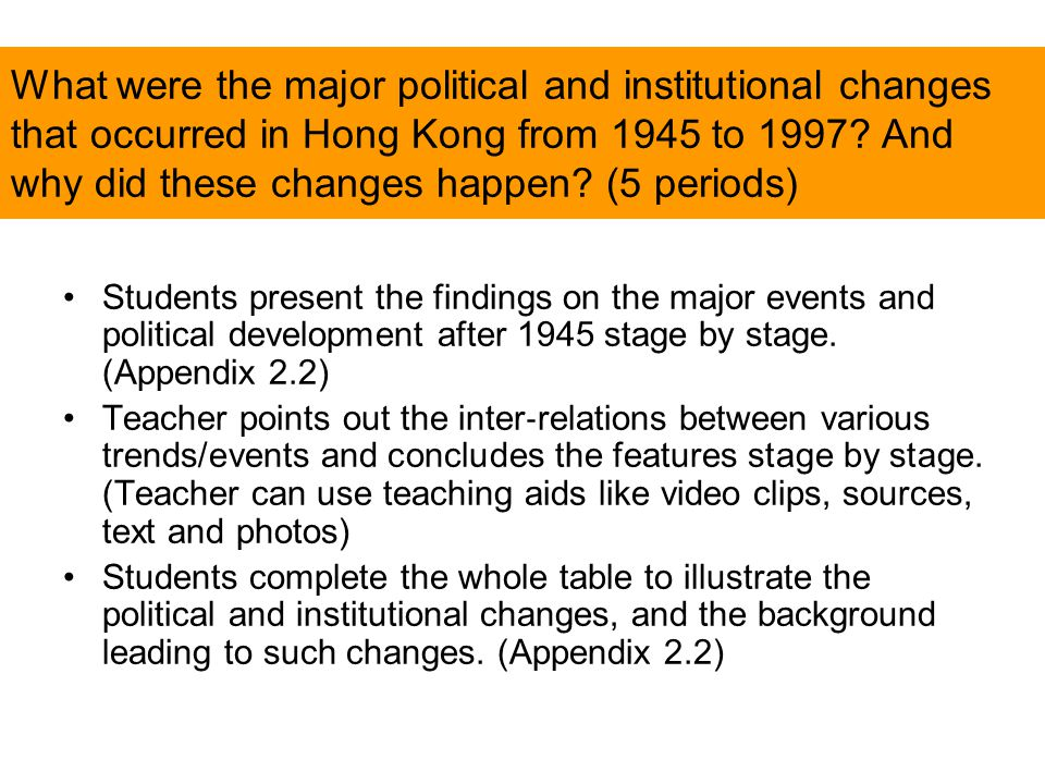 What were the major political and institutional changes that occurred in Hong Kong from 1945 to 1997.