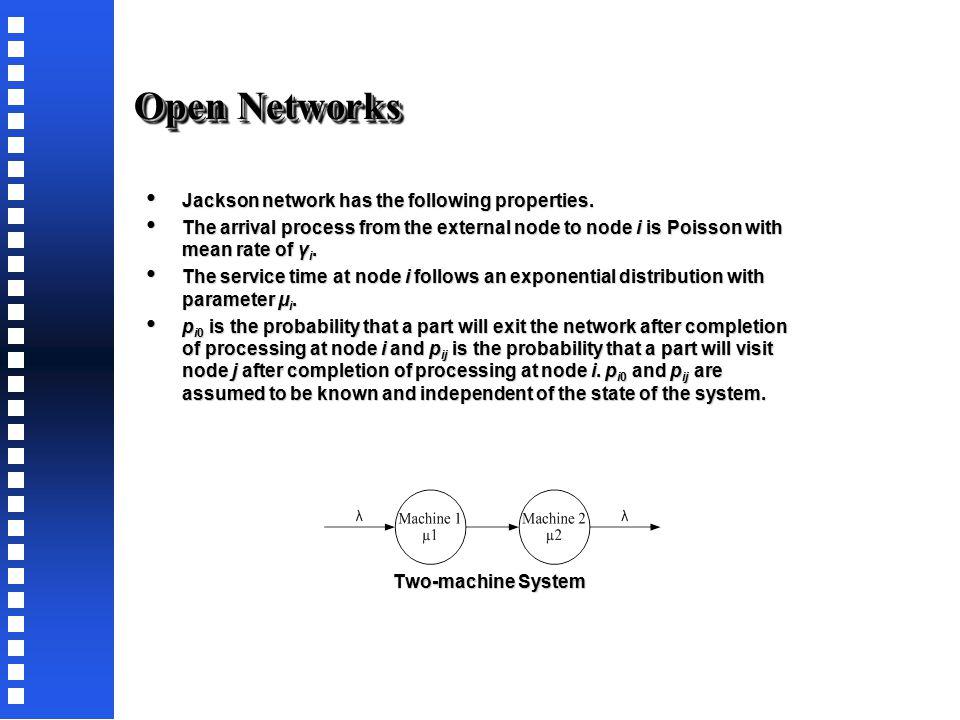Queuing Networks Open Open Closed Closed Semi-Open Semi-Open