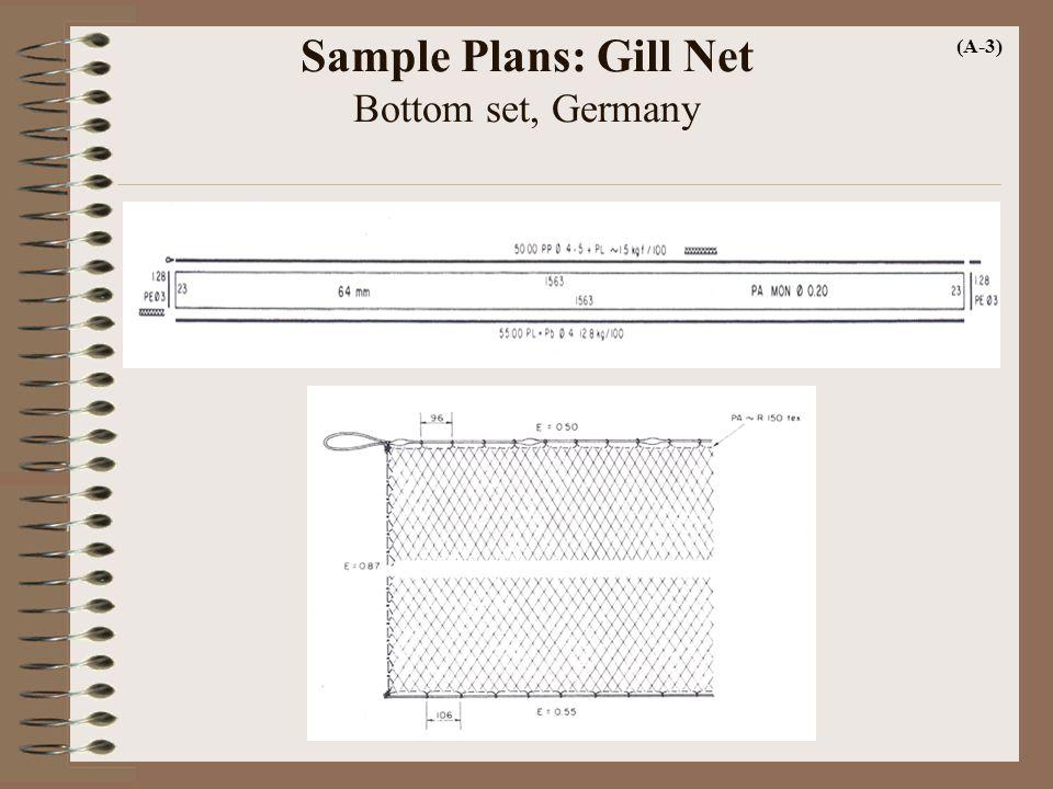 Sample Plans: Gill Net Bottom set, Germany (A-3)