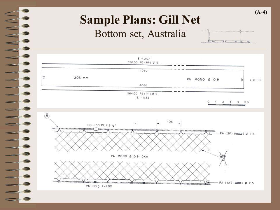 Sample Plans: Gill Net Bottom set, Australia (A-4)