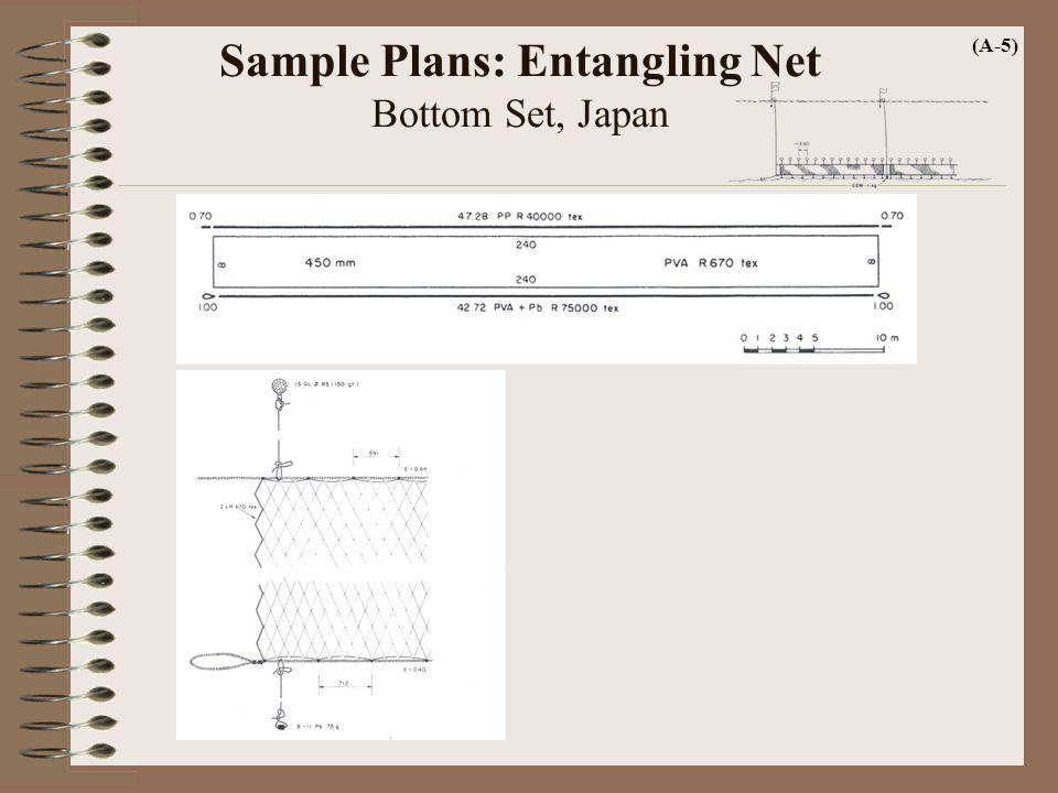 Sample Plans: Entangling Net Bottom Set, Japan (A-5)