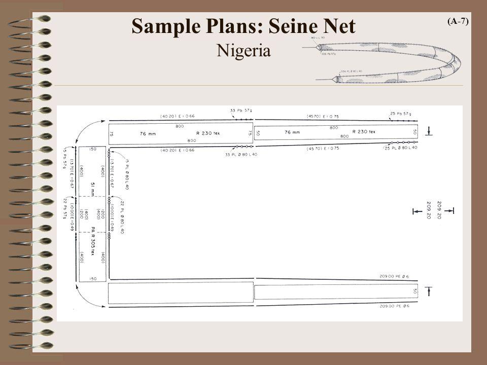 Sample Plans: Seine Net Nigeria (A-7)