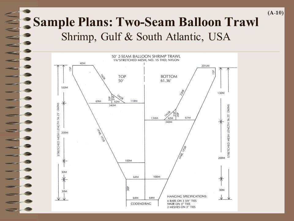 Sample Plans: Two-Seam Balloon Trawl Shrimp, Gulf & South Atlantic, USA (A-10)
