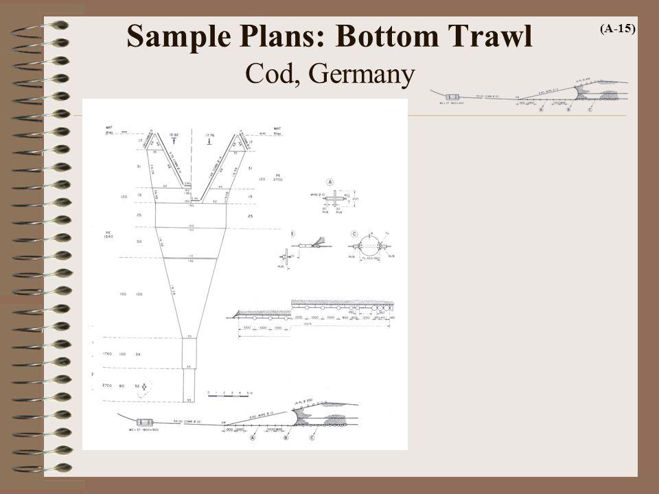 Sample Plans: Bottom Trawl Cod, Germany (A-15)