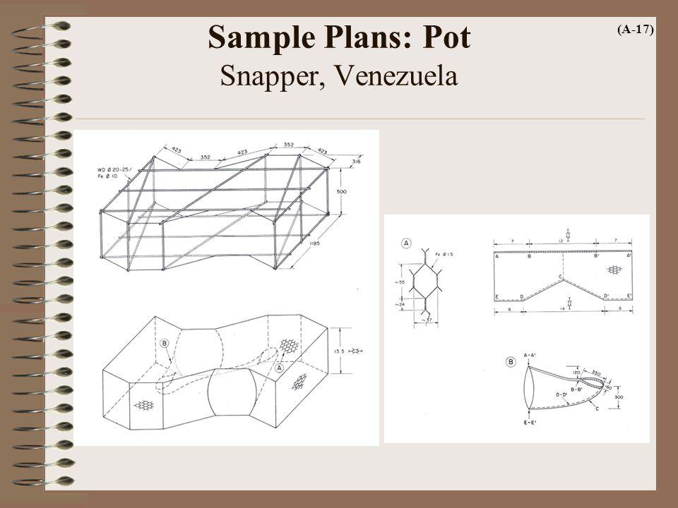 Sample Plans: Pot Snapper, Venezuela (A-17)