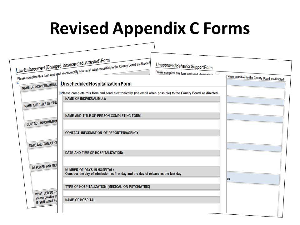 Revised Appendix C Forms