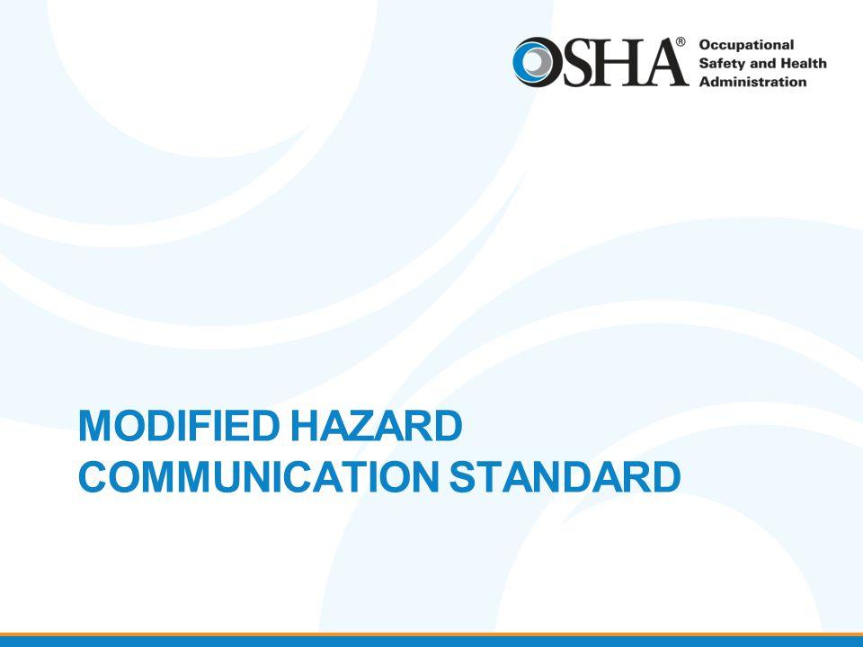MODIFIED HAZARD COMMUNICATION STANDARD