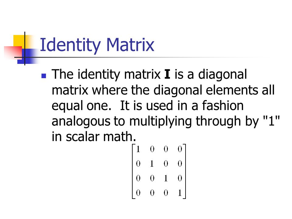 Symmetric Matrix All of the elements in the upper right portion of the matrix are identical to those in the lower left. For example, the correlation m