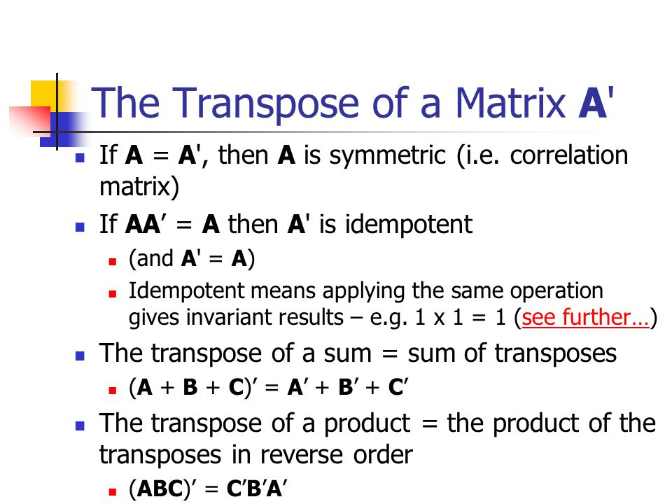 Example of a transpose
