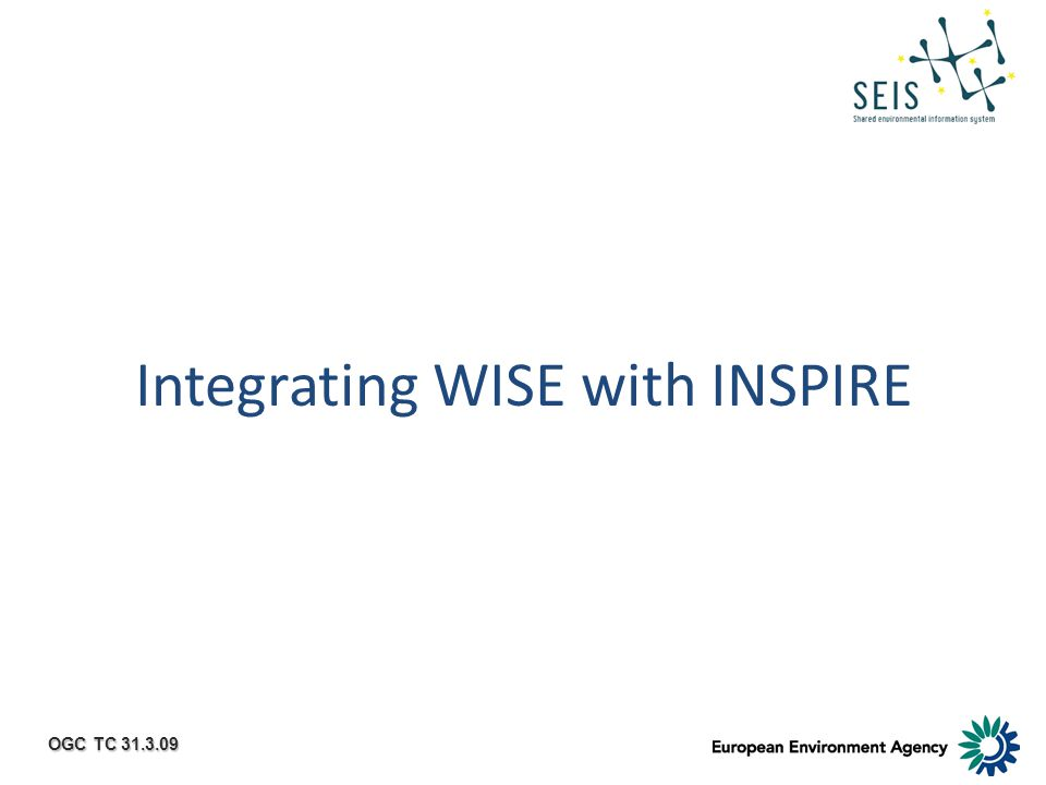 OGC TC 31.3.09 Integrating WISE with INSPIRE