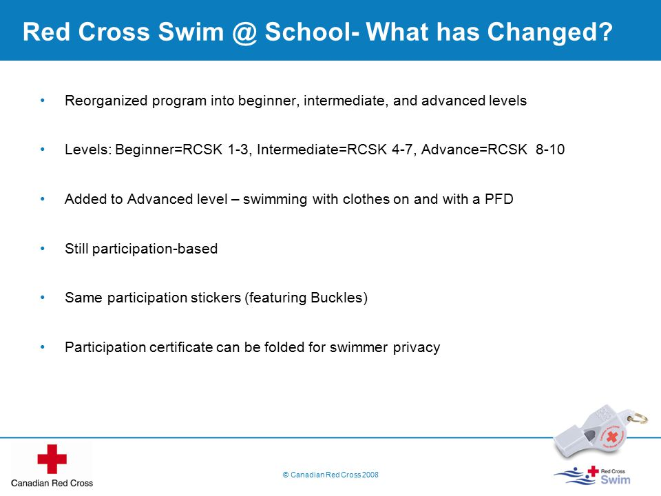 Red Cross Swim @ School- What has Changed.