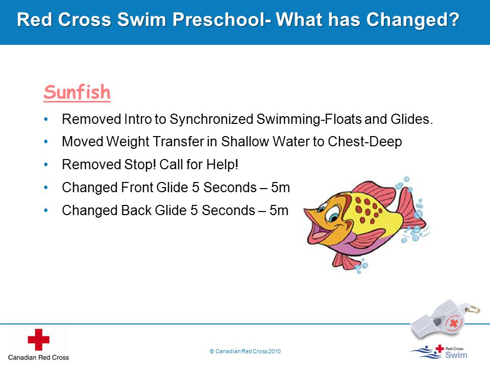 Red Cross Swim Preschool- What has Changed.