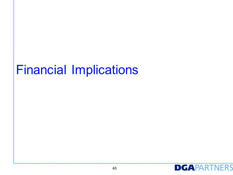 Financial Implications 46