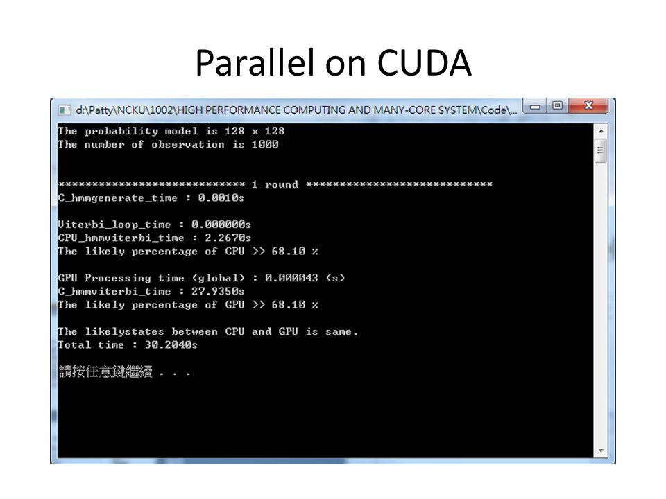 Parallel on CUDA
