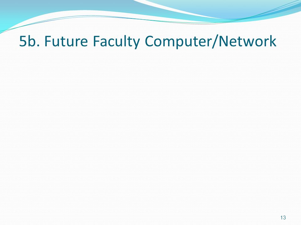 5b. Future Faculty Computer/Network 13