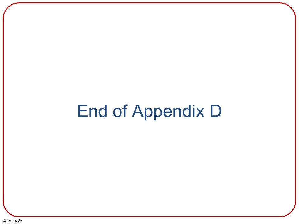 App D-25 End of Appendix D