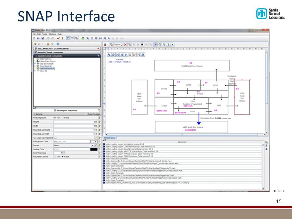SNAP Interface 15 return