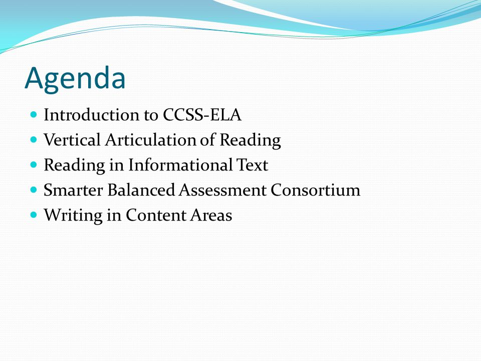 Reading Standards Vertical articulation Look at the reading standards for your content area Highlight the differences between the grade levels Note strategies that you already use Compare the 9-10 grade band standards for each group.