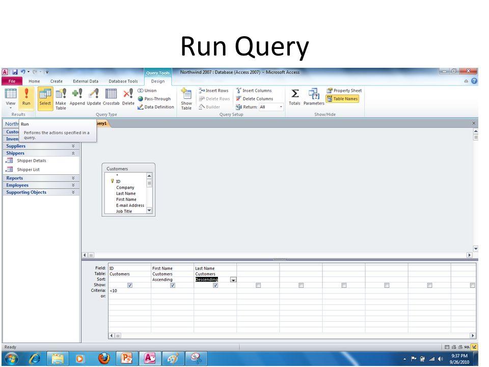 Run Query