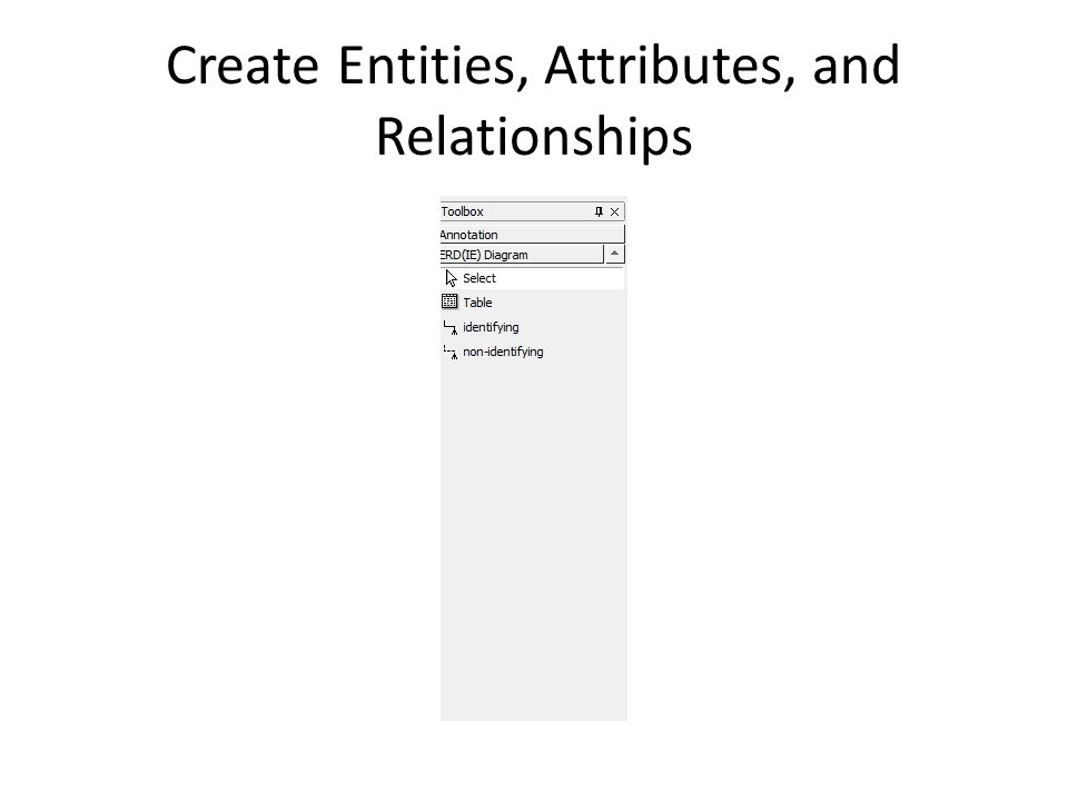Create Entities, Attributes, and Relationships