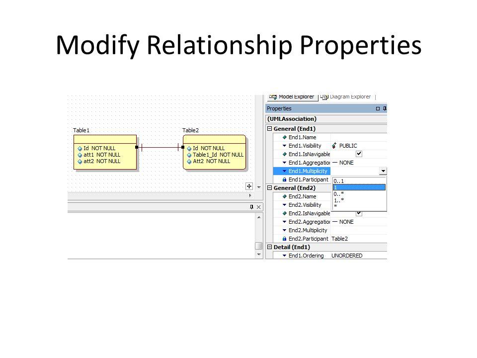Modify Relationship Properties
