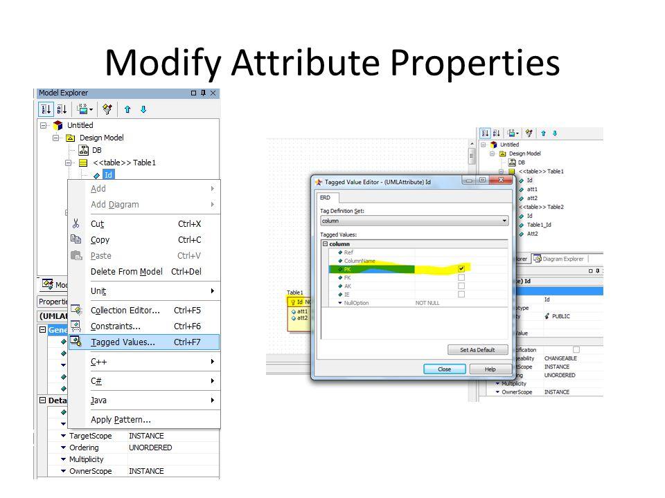 Modify Attribute Properties