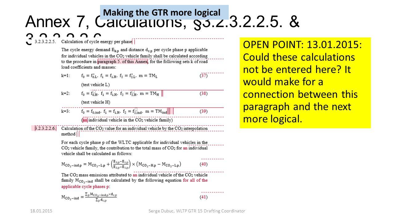Annex 7, Calculations, §3.2.3.2.2.5. & 3.2.3.2.2.6.