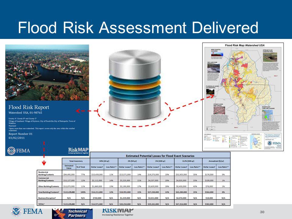 30 Flood Risk Assessment Delivered