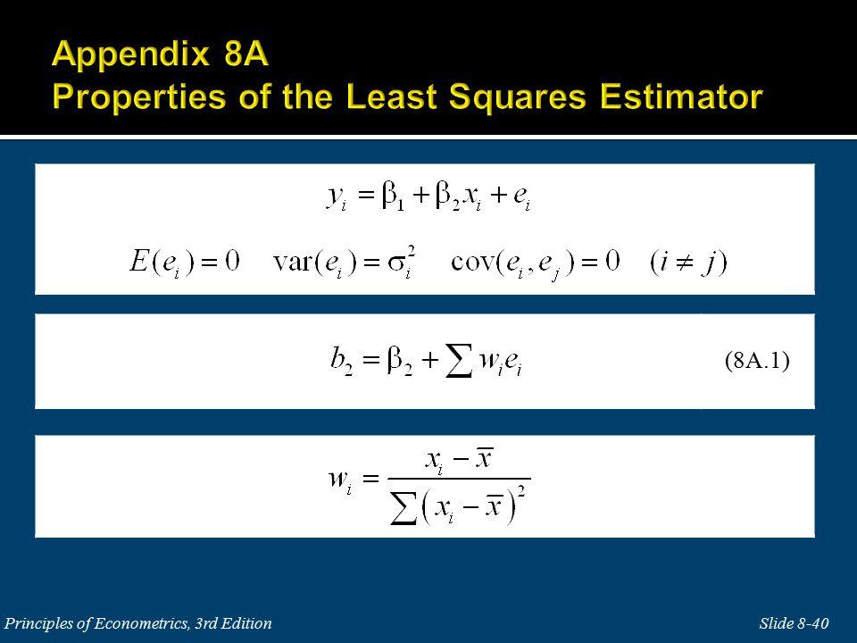 Slide 8-40Principles of Econometrics, 3rd Edition (8A.1)