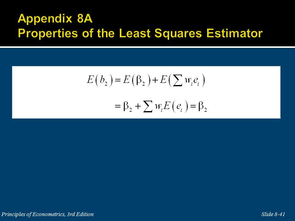 Slide 8-41Principles of Econometrics, 3rd Edition