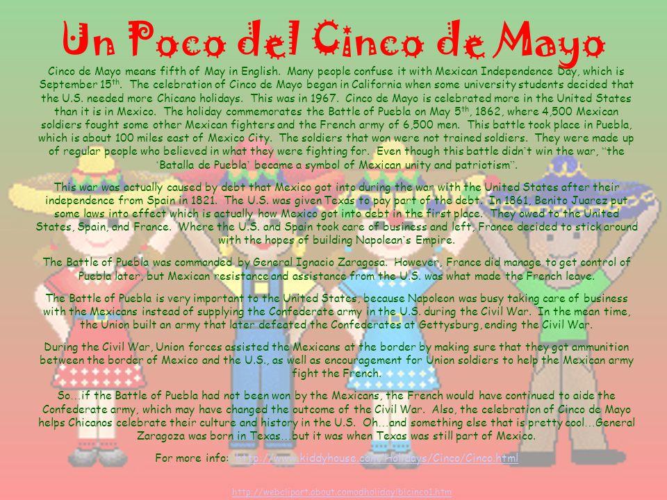 Un Poco de México Mexico (Estados Unidos Mexicanos) is in North America The capitol is La Ciudad de México or México, Distrito Federal (D.F.) Money is called pesos.