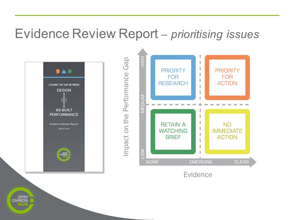 Evidence Review Report – prioritising issues