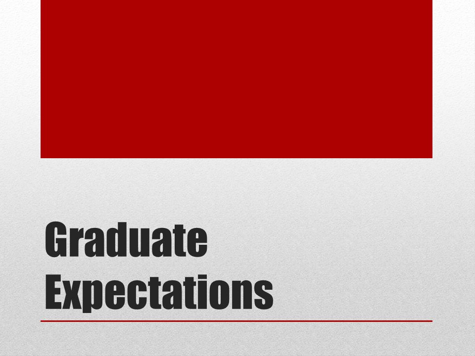 Graduate Expectations