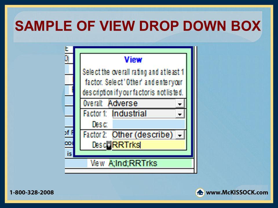 SAMPLE OF VIEW DROP DOWN BOX