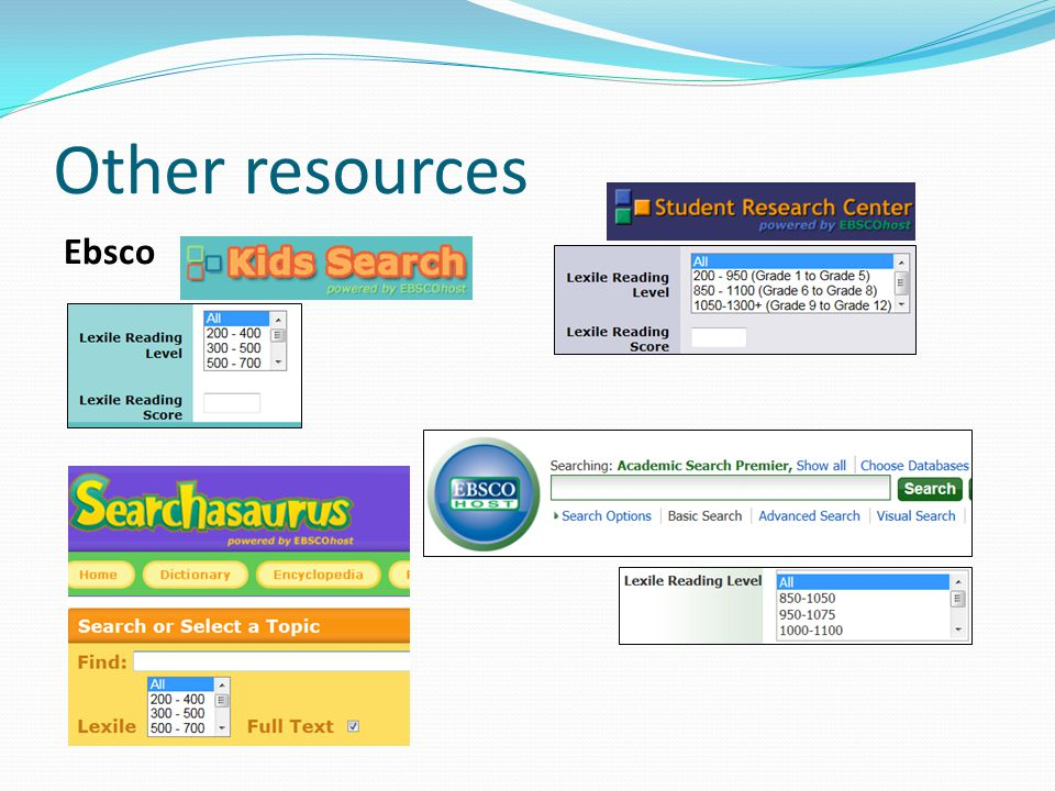 Other resources Ebsco