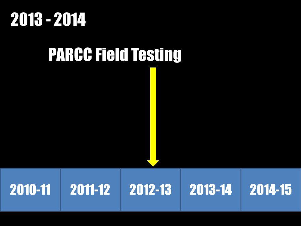 2010-112011-122012-132013-142014-15 2013 - 2014 PARCC Field Testing