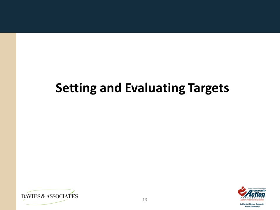 16 Setting and Evaluating Targets