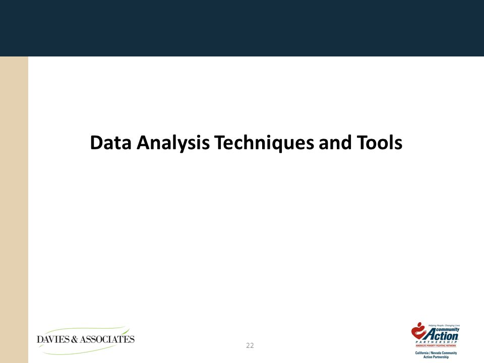 Data Analysis Techniques and Tools 22