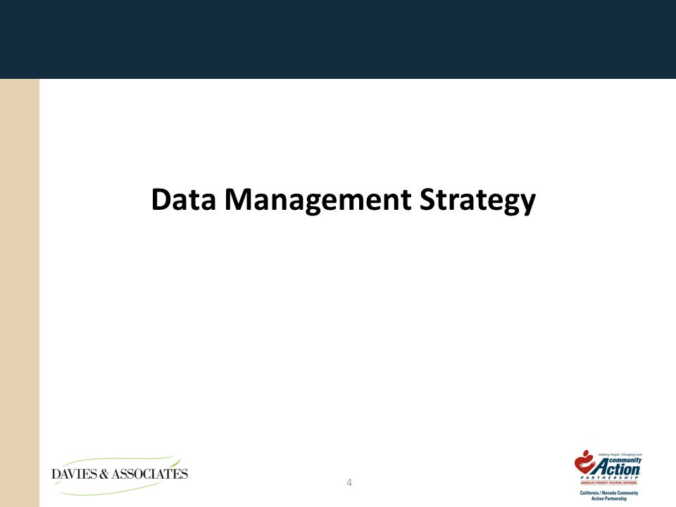 Data Management Strategy 4