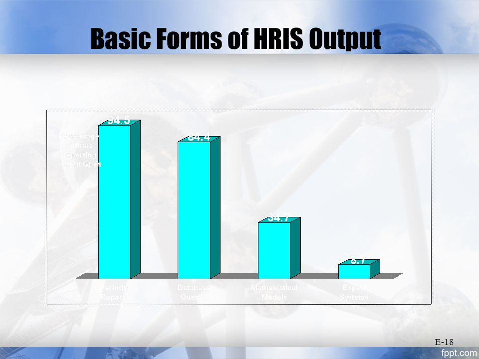 Basic Forms of HRIS Output E-18