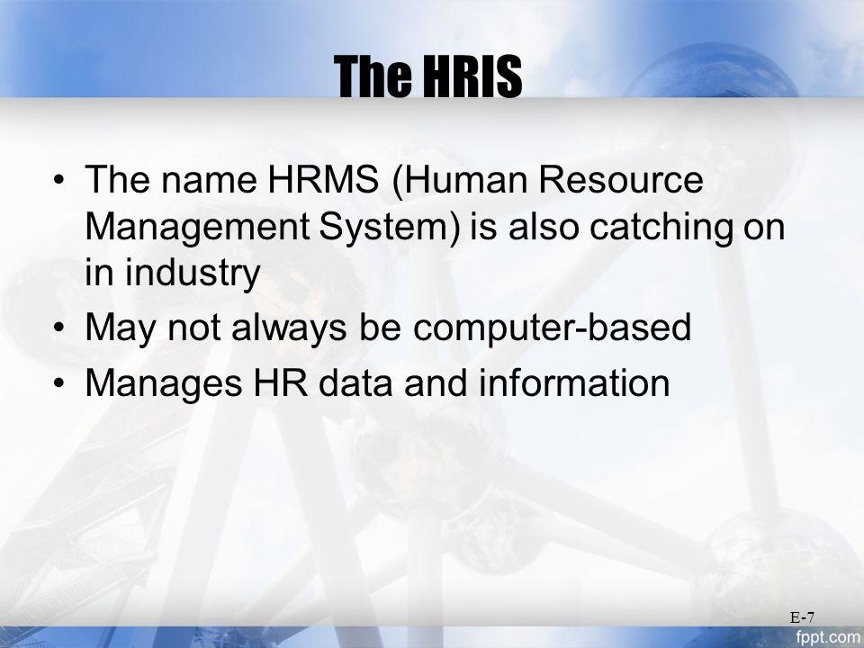 Basic Forms of HRIS Output E-18