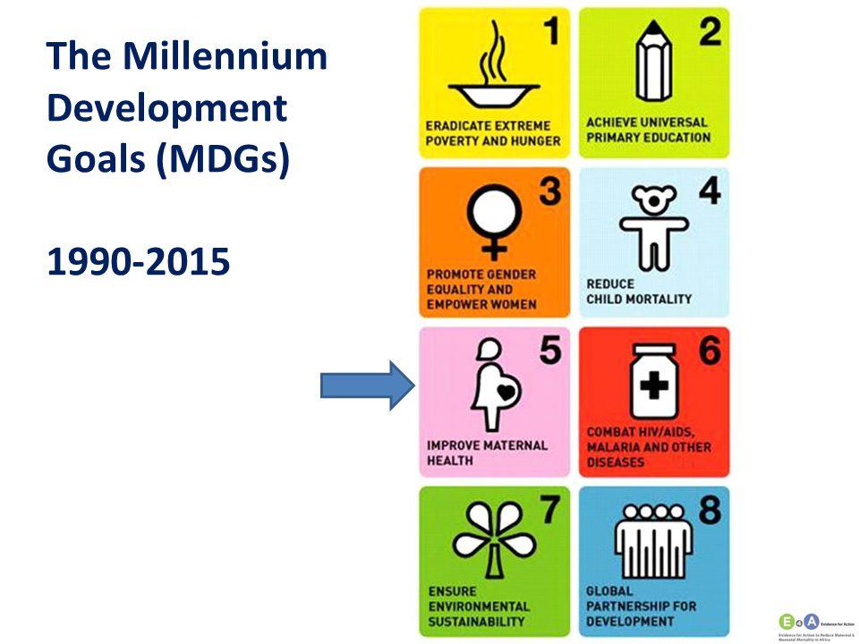 The Millennium Development Goals (MDGs) 1990-2015