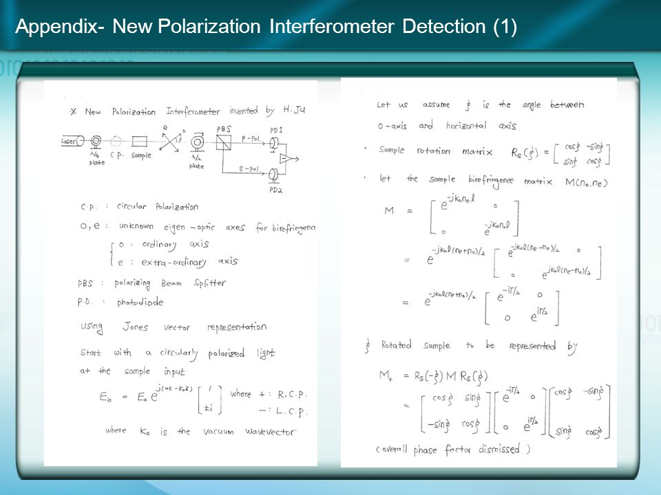 Appendix- New Polarization Interferometer Detection (1)