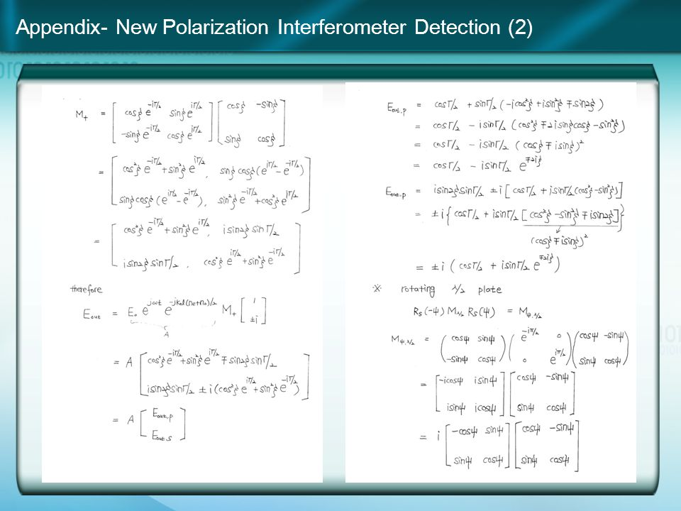 Appendix- New Polarization Interferometer Detection (2)