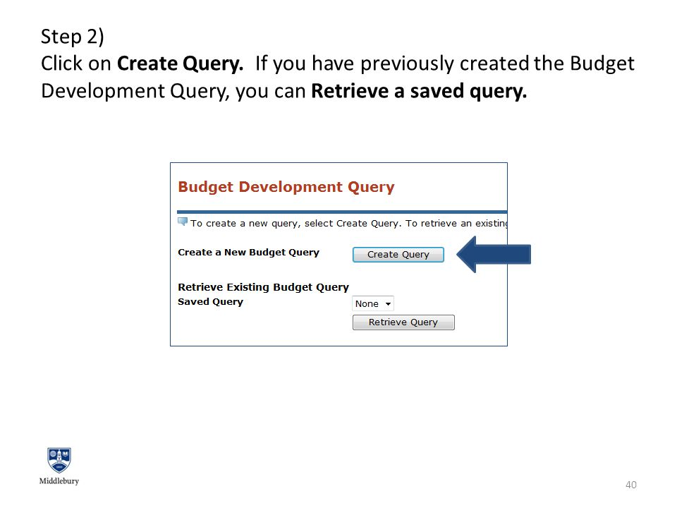 Step 2) Click on Create Query.