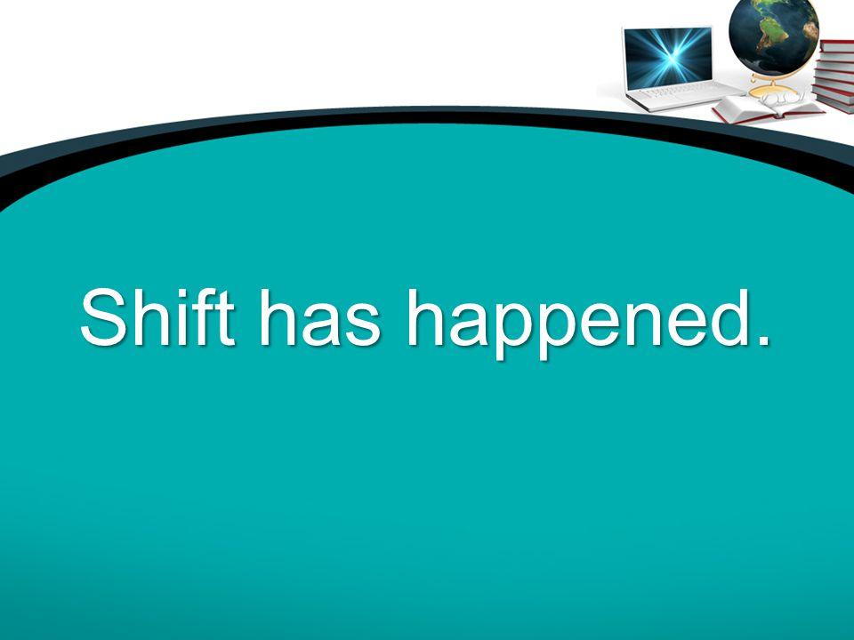 Shift has happened.