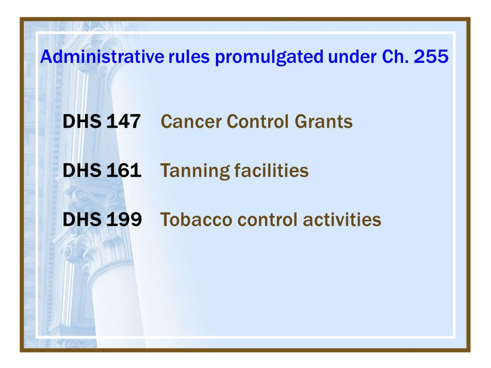 Administrative rules promulgated under Ch.